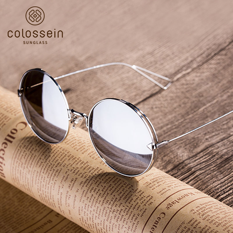 COLOSSEIN Fashion Brand Vintage Classic Women Sunglasses Square Metal Frame Mirror New L ...