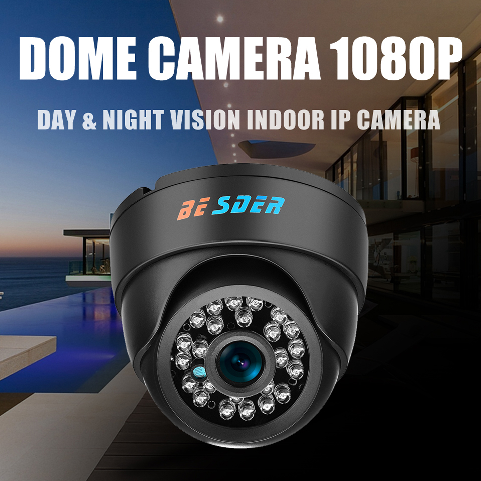 Image 3 - BESDER Wide Angle IP Camera Indoor Dome Camera Security 1080P FULL HD IP Camera IR Cut Filter 24 IR LED ONVIF Motion Detect RTSP-in Surveillance Cameras from Security & Protection
