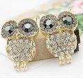 SALE Lose MOney 2014 HOT aliexpress Nice Fashion Jewelry Austria Crystal Imitation Diamond Stud Owl Earring New  EP-0011