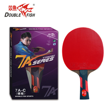 Original double poisson 7AC 7stars tennis de table fini raquettes wenge bois raquette sports pur bois attaque rapide avec boucle
