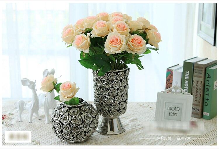 5pcs/Lot Rose Silk Artificial Flower Mini For Wedding Decorative Fake  Flores Home Table Decor Part 67