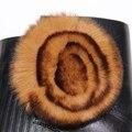 Genuine Rex Rabbit Fur Pom Poms Bola Flor Para Sapatos Chapéus Sacos De Pele Real Acessórios Pompom Pompom Pele Natural Rex Flor Da Pele