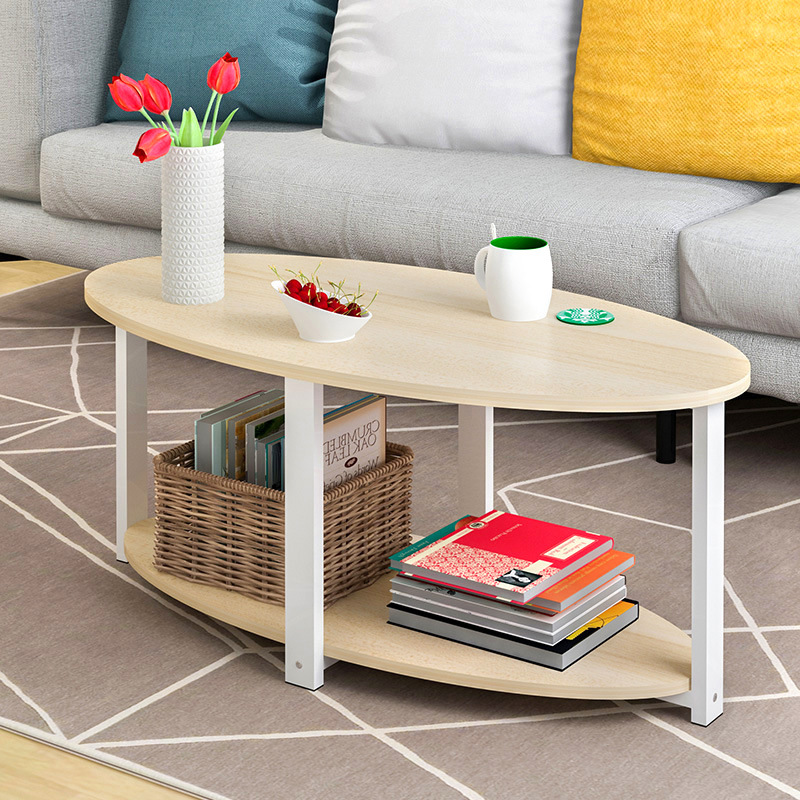 New High Quality Coffee Table Side Table Nordic Small Corner Oval Table Living Room Sofa Side Cabinet Strong Bearing
