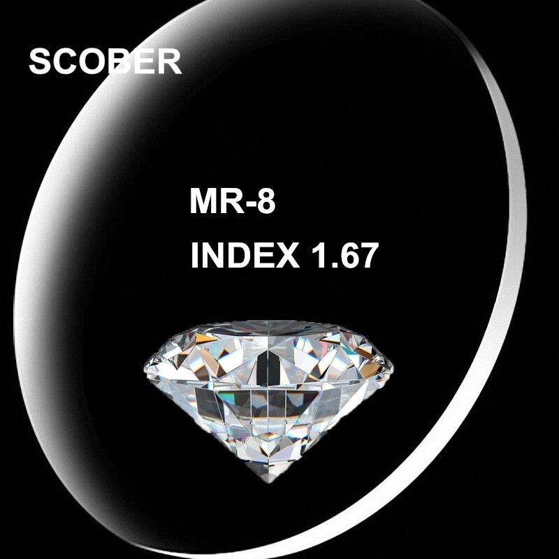 Accessoires Mr-8 1,67 Index Anti-radiation Beschichtung Asphärische Hartharz Objektiv Für Randlose Brille Myopie Kurzsichtig Brillen Rezept G657 Herren-brillen