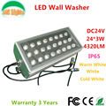 24*3W LED Wall Washer DC24V Outdoor Spotlights IP65 waterproof Flood light buildings projector light Warm White/White 4PCs a lot