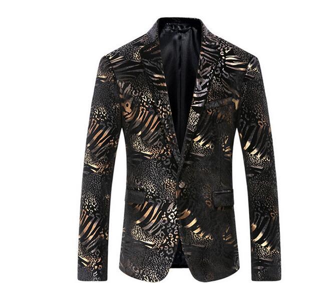 Uomini Stampato Blazer Jacket Nuovo ArrivalsDesirable Tempo Mens casual Floreale Giacca Sportiva vestito degli uomini