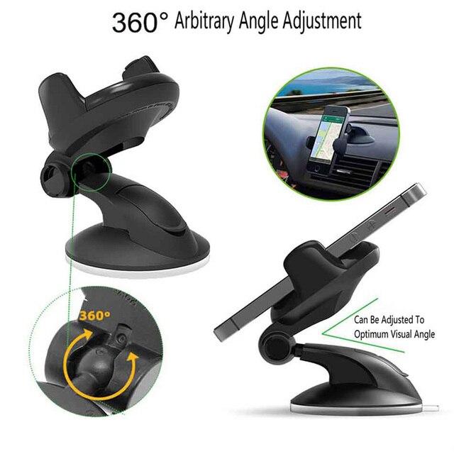 Universal Mobile Car Phone Holder For Phone in Car Holder Windshield Cell Stand Support Smartphone Voiture Suporte Porta Celular 5