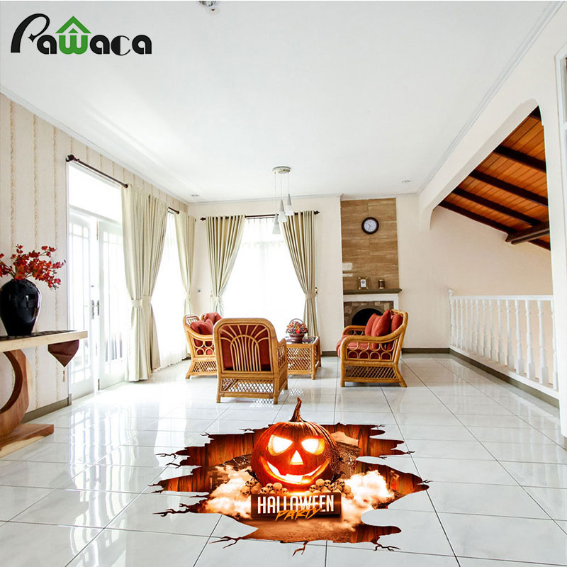Detail Feedback Questions About Diy Wall Stickers Decoration Ghost Horror Bat Spider Pumpkin Wallpaper Waterproof Removable Floor Home Decor