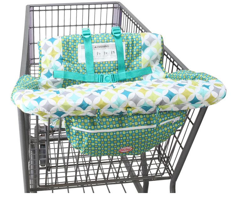 Safe Soft Baby Shopping Cart Seat Cover Folding Portable Seat Covers High Chair