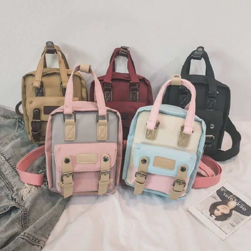 Simple Mini Students School Backpacks For Women 2019 Hot New Fashion Korean Solid Color Shoulder Bags Female Oxford Cute