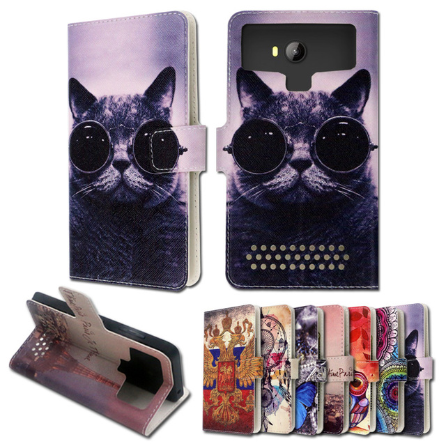 Luxury stand style printed cartoon painting flip leather case for  Beeline Smart 6,free gift,ZY06