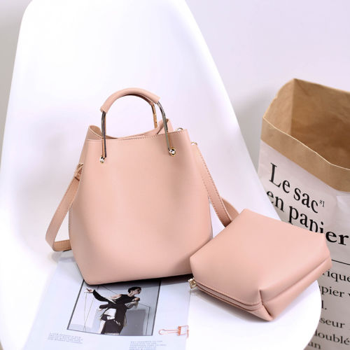 New 2017 Two Pcs Las Designer Handbag Sets Purse Pu Leather Card Wallet Tote Shoulder Bag In Top Handle Bags From Luggage On Aliexpress