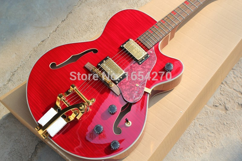 Free shipping hot selling big rocker electric guitar ES335 jazz piano big rocker guitar . forestwind new arrival hot selling junior standard style pickups electric guitar 2 pic free shipping