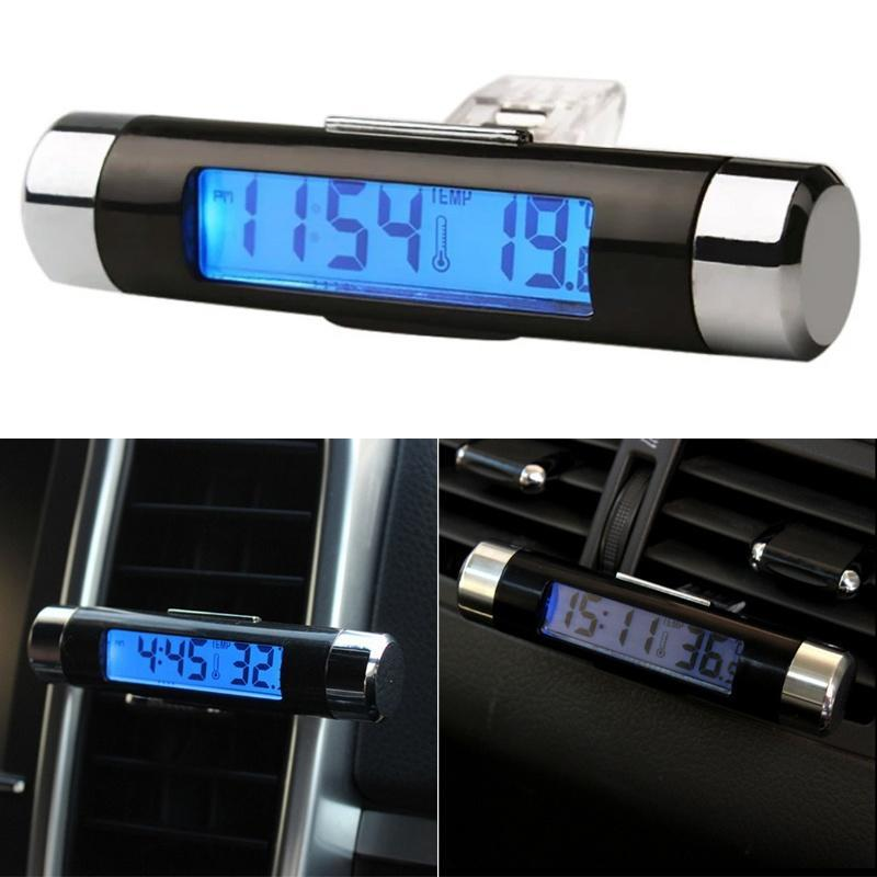 High Quality Clip-on LCD Truck Car Thermometer Temperature Digital Clock Backlight Automotive