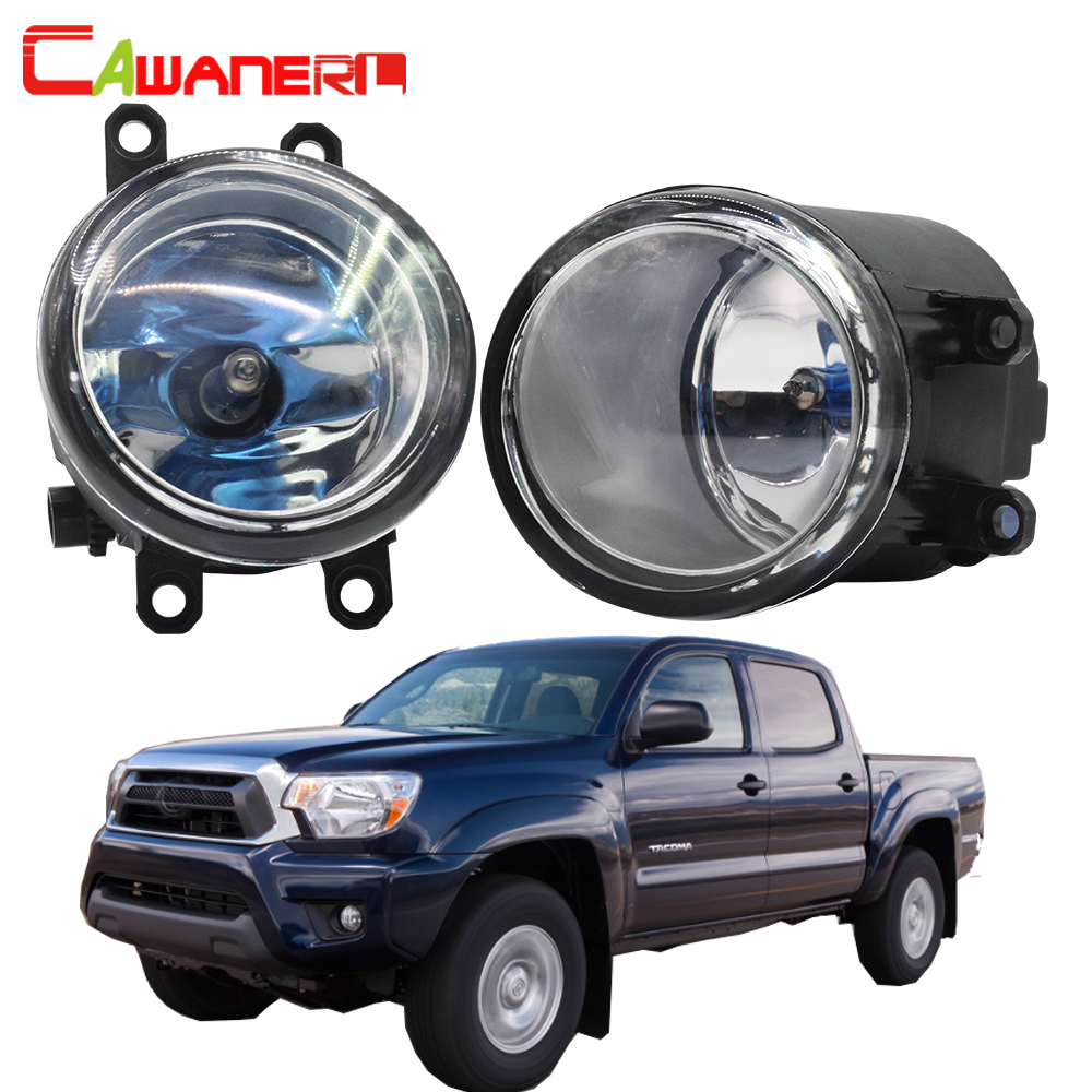 Cawanerl 2 Pieces 100W Car Halogen Fog Light Daytime Running Lamp DRL Warm White High Power 12V For 2012-2016 Toyota Tacoma cawanerl 2 x car led fog light drl daytime running lamp 12v white for toyota prius hatchback zvw3 1 8 hybrid 2009 onwards