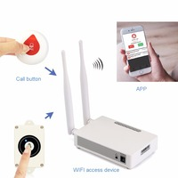 Wireless WIFI Internet Emergency Alert System For Senior Parents Elderly IOS Android App With Waterproof Help