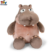 25cm Simulation Plush Nici Hippo Toy Stuffed Hippos Doll Hippopotamus Children Kids Baby Student Special Gift