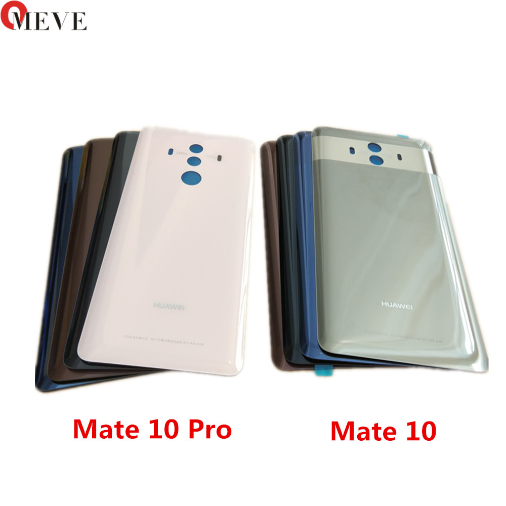 100% Original For HUAWEI Mate 10 Rear Housing Cover Replacement Back Battery Door Cover Housing For Mate 10 Pro Adhesive Sticker