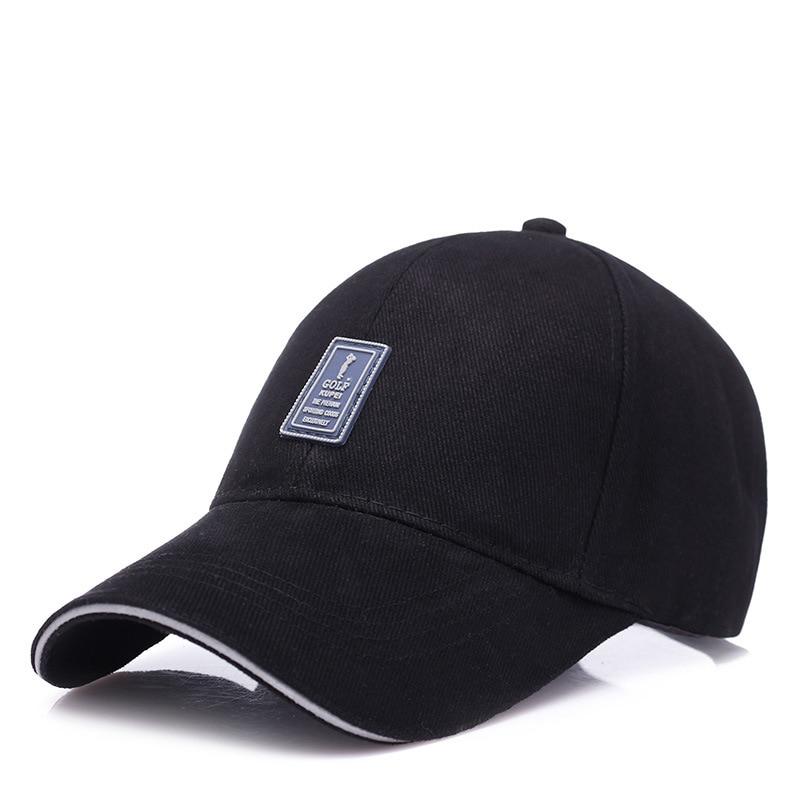 KUYOMENS Golf Logo Cotton Baseball Cap Sports Golf Snapback Outdoor Simple Solid Hats For Men Bone Gorras Casquette Chapeu