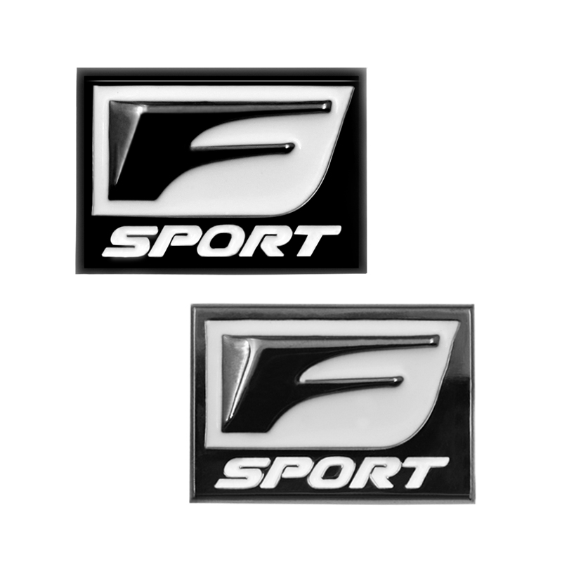 2pec/set F Sport Fsport Metal Emblem Badge Car Stickers rear Trunk Decals For Lexus RX ES IS IS200 IS300 RX330 RX350 Car Styling