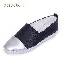 XGVOKH Marque femmes de Mocassins Véritable superstar En Cuir de style britannique Paresseux Glissement occasionnel Sur Appartements confortable Robe chaussures pour femme