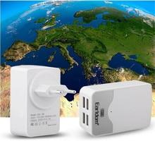 5 pcsUK Зарядное Устройство Адаптер 4 Порта USB Порт 5 В 4.4A AC Зарядное зарядное устройство Зарядное Устройство ВЕЛИКОБРИТАНИИ Plug Адаптер Конвертер для iPhone Для Samsung