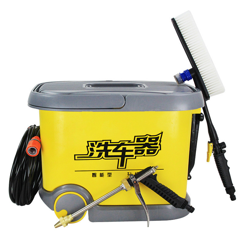 36L Roller Wash Car Machine 12V High Pressure Car Wash Power Pressure Washer 220V Household Brush Pump Cleaning Machine Car Wash
