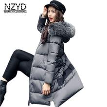 Winter Women Jakcet Down 2017 New Fashion Hooded Medium long Print Female Coat Long sleeve Loose Big yards Parkas LADIES266
