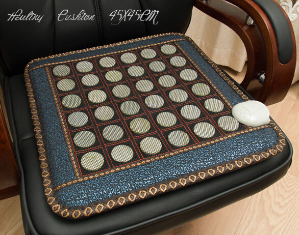 Good & Free shipping! Natural Jade cushion germanium stone tourmaline heated mat jade health care physical therapy mat 45*45CM good jade mat natural tourmaline cushion health care pad tourmaline heat physical therapy cushion heat free shipping