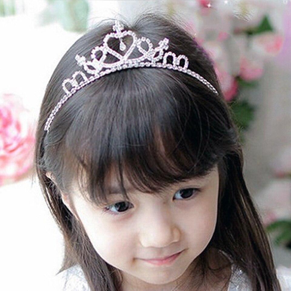 Valentine's Day Crystal Tiara Hairband Kid Girl Bridal Princess Prom Crown Party Accessiories Princess Prom Crown Headband