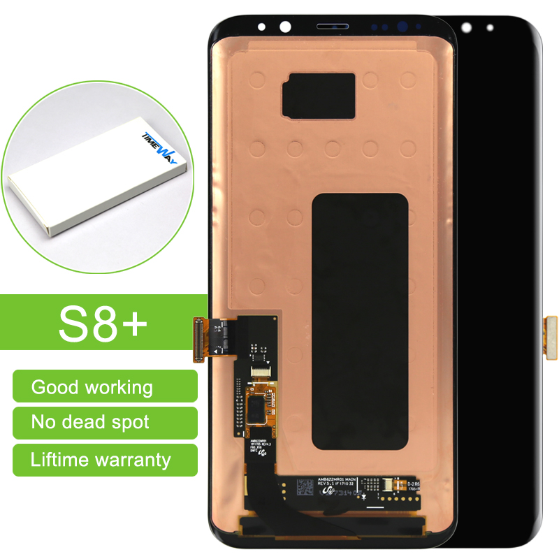 5PCS 100% Original Pantalla For Samsung Galaxy S8 plus LCD Screen Replacement Black Touch Digitizer Assembly free DHL original lcd for wiko ridge 4g lcd display with touch screen digitizer pantalla assembly replacement 5 inch black color
