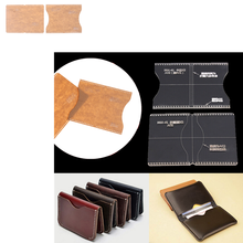 NEW 2019 Acrylic Clear Template Handcrafting Set DIY Craft For Leather Wallet Bag Pattern High Quality(China)