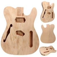 DIY Mahogany Wood Body F Hole Semi Finished Product Guitar Body Electric Guitar Rosewood Fingerboard Part Musical Instruments