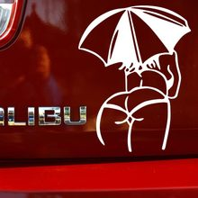 1PC 14 11cm 2016 New Design sexy girls Car stickers Sexy MM Umbrella Body Car Styling