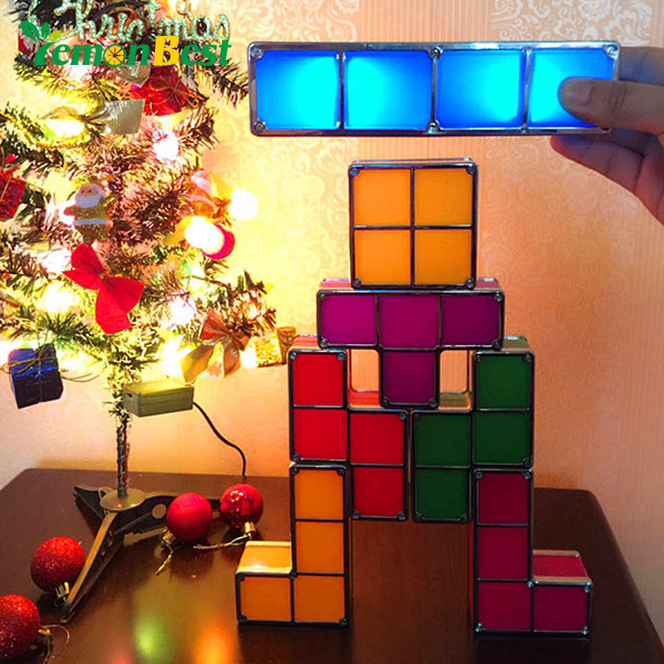 Diy tetris constructible night light desk lamp creative diy tetris constructible night light desk lamp creative constructible retro game style three dimensional stackable led light in night lights from lights geotapseo Gallery
