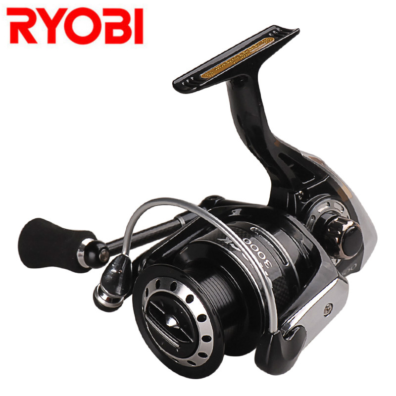 <font><b>RYOBI</b></font> SHOCK 1000 2000 <font><b>3000</b></font> 4000 Spinning Fishing Reel 7+1 BB 5.0:1/5.1:1 Spinning Wheel Fishing Reel Carpa Molinete De Pesca image