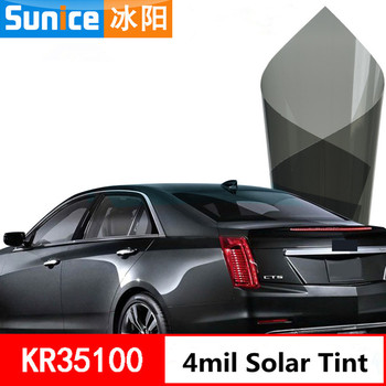 4mil Building window film 35% VLT Heat Insulation glass tinting film for hose office car sunshade residential commercial 1.52x3m