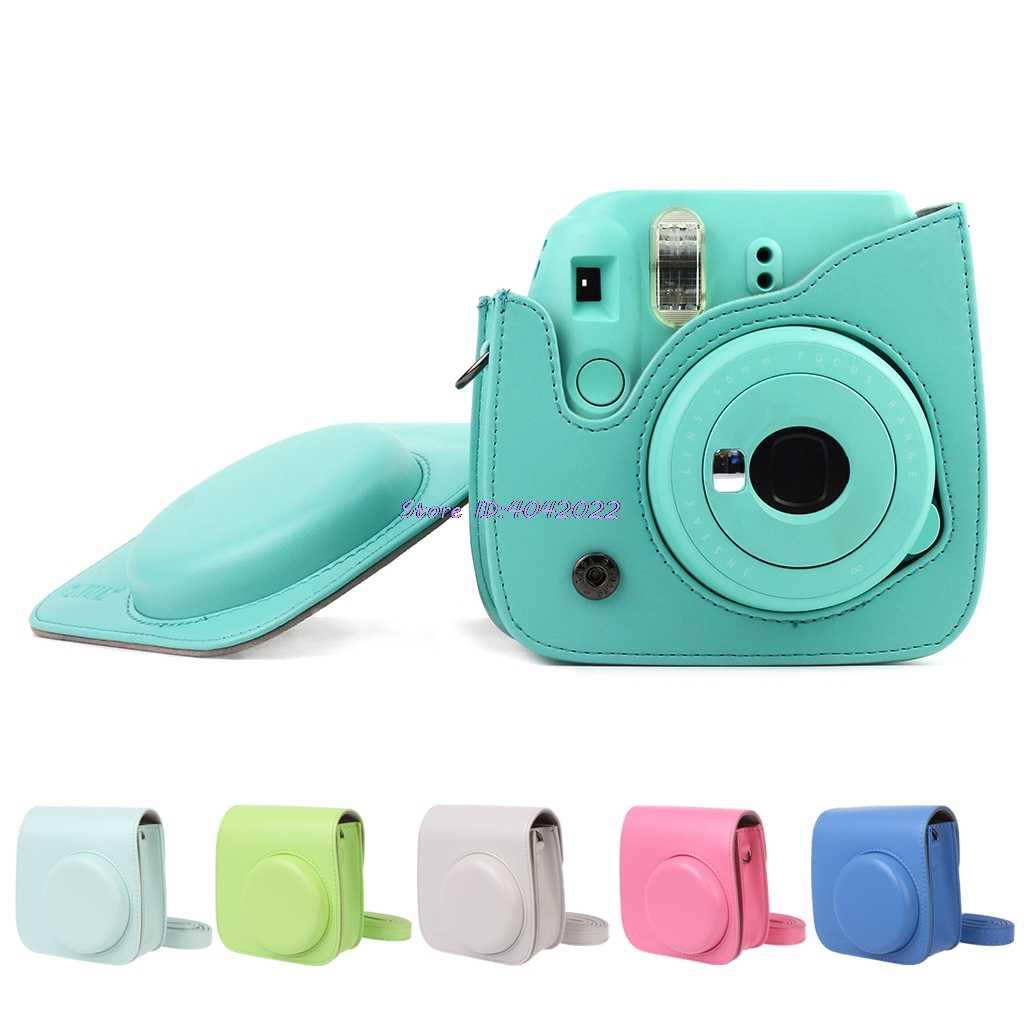 Untuk Fujifilm Polaroid Mini 8/8/9 Instax PU Kulit Kamera Film Tas Kantong Kasus