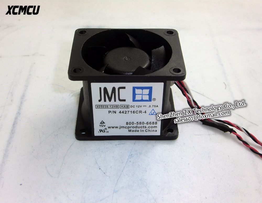 Original Server Square Fan 405038-12HB HAB DC12V 0.75A 4038 4cm 442716CR-4 double fan cooling fan In stock