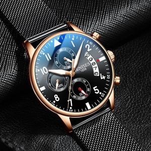 Image 2 - Man Wrist Watch 2019 Luxury Brand Men Watch Male Clock Business Classic Quartz Sport Chronograph Watch For Men Relogio Masculino