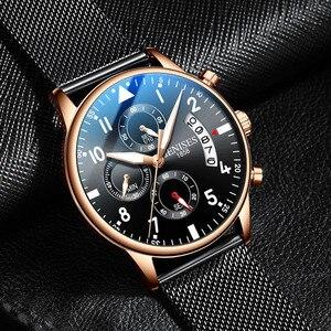 Image 2 - Mann Armbanduhr 2019 Luxus Marke Männer Uhr Männlichen Uhr Business Klassische Quarz Sport Chronograph Uhr Für Männer Relogio Masculino