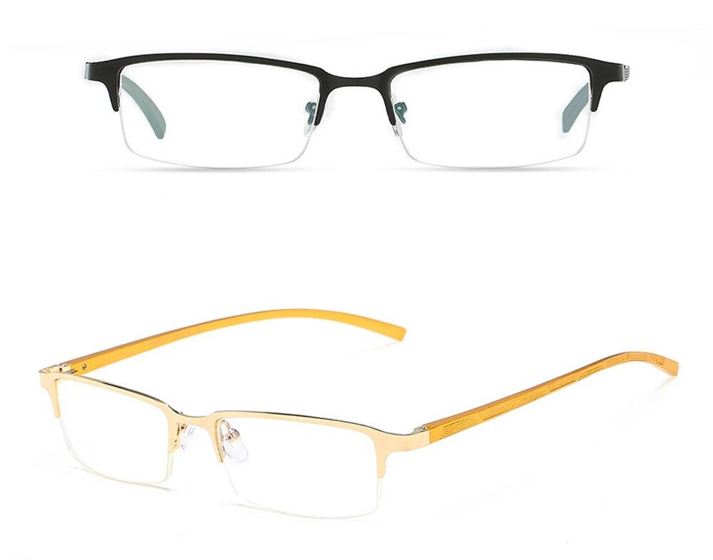 Eyewear Square Gaming Computer Glasses Women Men Blue Semi-rimless Light Glasses Comfortable Blue Glasse (8)