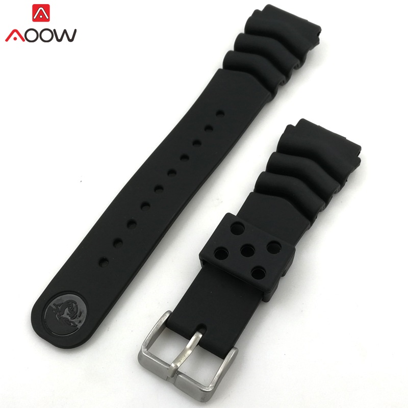 AOOW Generic Watchband Silicone Rubber Watch Strap Bands 18mm 20mm 22mm Watches Belt Waterproof Sport Straps 2019 Newest strap