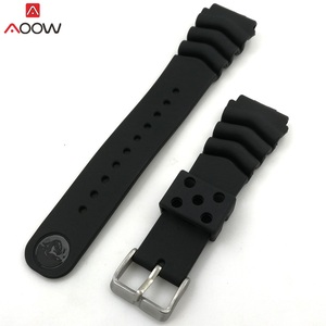 AOOW Generic Watchband Silicone Rubber Watch Strap Bands 18mm 20mm 22mm Watches Belt Waterproof Sport Straps 2019 Newest(China)
