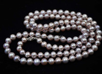 32 length 6 7mm natural lavender cultured pearl necklace