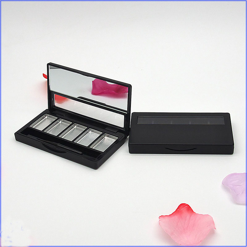 Eye shadow Palette Empty Lipstick Container 5 Grids DIY Eyeshadow Packing Compact with Aluminum Pan lip