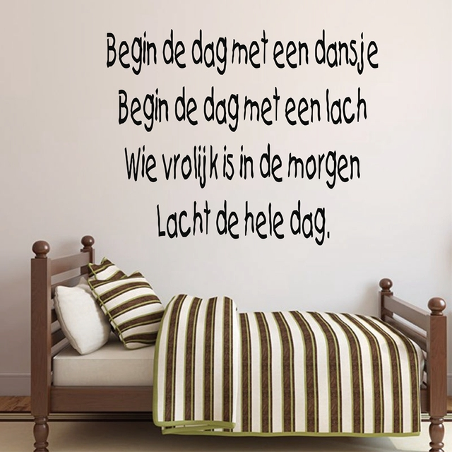 Free Shipping Holland Children Bedroom Removable Vinyl Wall Decal Stickers Nursery Rhymes In Dutch Hl01