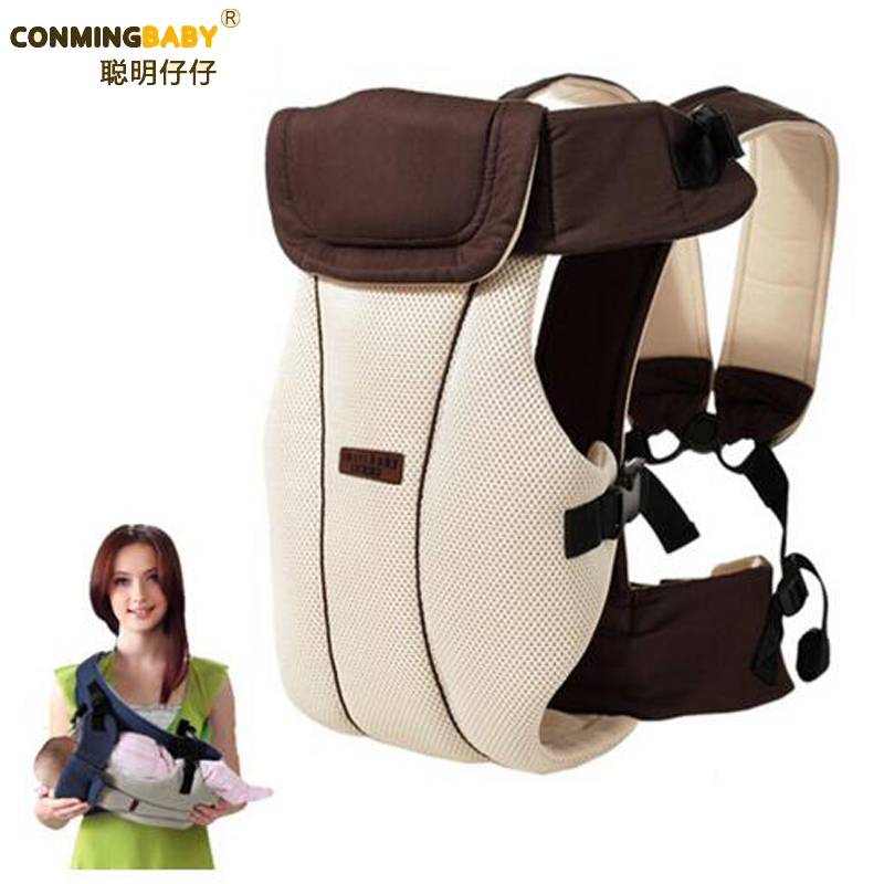 Updated 2-30 Months Breathable Multifunctional Front Facing Baby Carrier Infant Baby Sling Backpack Pouch Wrap Baby Kangaroo