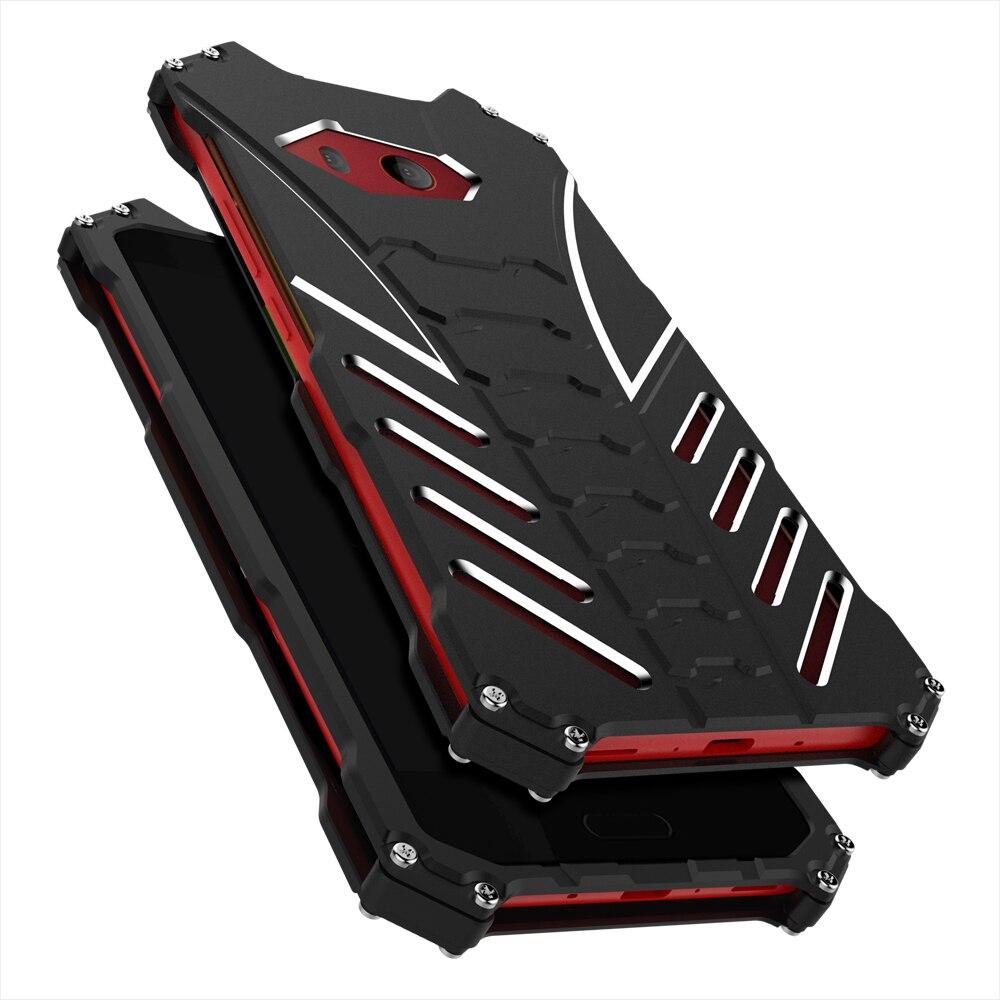 Custodia protettiva Per HTC U11 Duro Antiurto In Alluminio Per HTC U11 Più Casi di Lusso Del Telefono di Protezione Della Copertura Per HTC U Ultra
