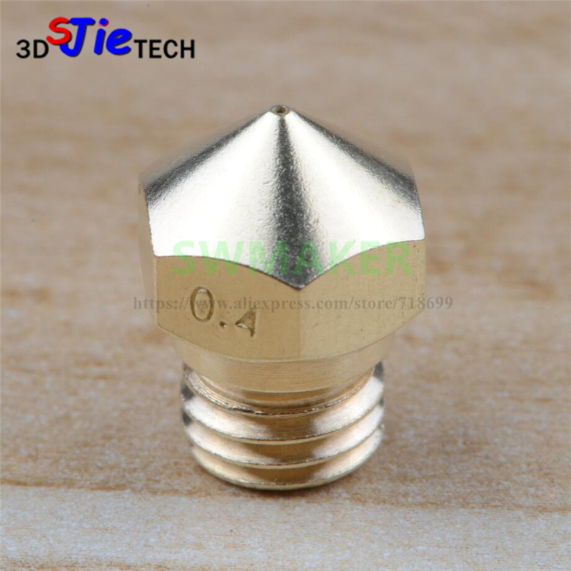MK10 Extruder Nozzle 0.2mm~2.0mm, M7 thread F- Creator pro, Wanhao D4 and I3, finder 3D Printer